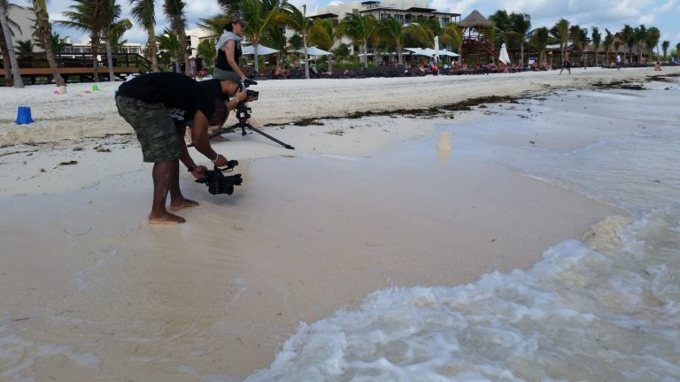 VMC-Media-CBC-The-Goods-Royalton-Cancun-Filming-on-the-beach-768x432 CBC The Goods with Sunwing (Cancun)