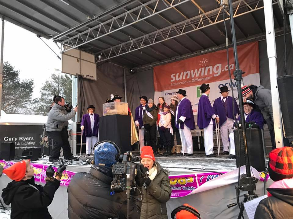 VMC-Media-Sunwing-Wiarton-Willie-Festival-ceremony Wiarton Willie Festival